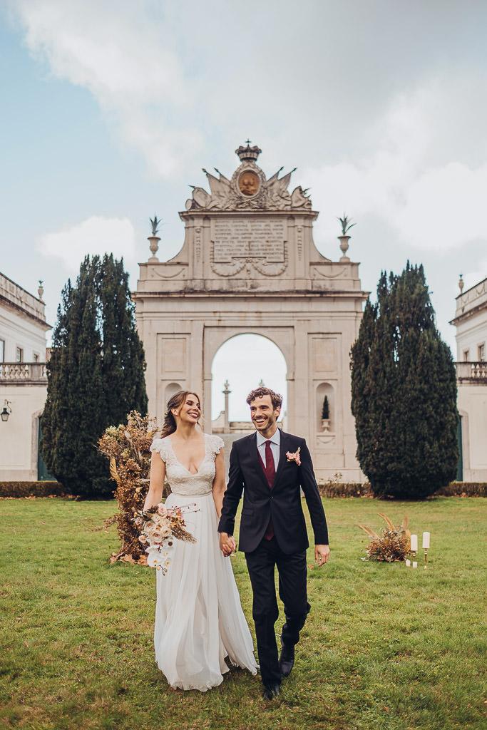Elopement Wedding at the Beautiful Palacio de Seteais in Sintra